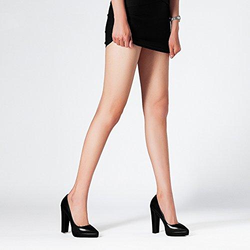 MUMA bequem Heels Damenschuhe EU39 Plattform größe spitz Schuhen mit 2018 wasserdichte neue dick UK6 einzelnen CN39 High sexy Pumps AASwr