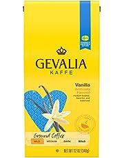 Gevalia Vanilla Medium Roast Ground Coffee (12 oz Bags, Pack of 6)