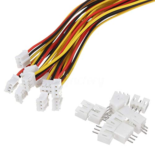 20 Sets Mini Micro Jst 2.0 Ph 3 Pin Connector Plug Male With 150mm Cable & Female by daier ()