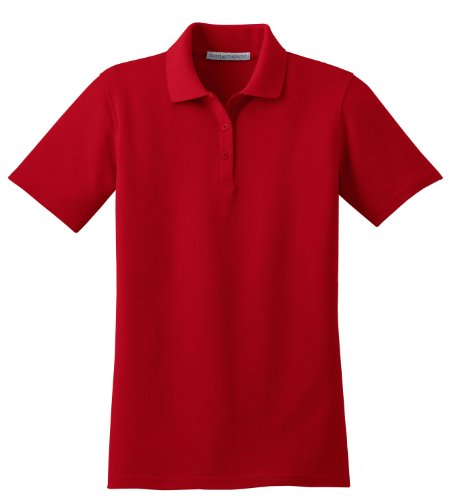 Port Authority Ladies Stain-Resistant Polo>XXL Red L510