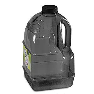 1 Gallon BPA FREE Reusable Plastic Drinking Water Bottle Jug Container - Black