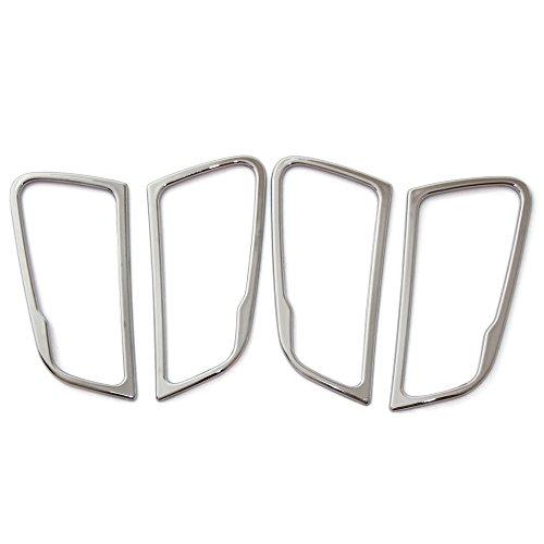 Treading(TM) 4pcs/set ABS Chrome Interior doors handle decoration trim ring For Hyundai Solaris Verna