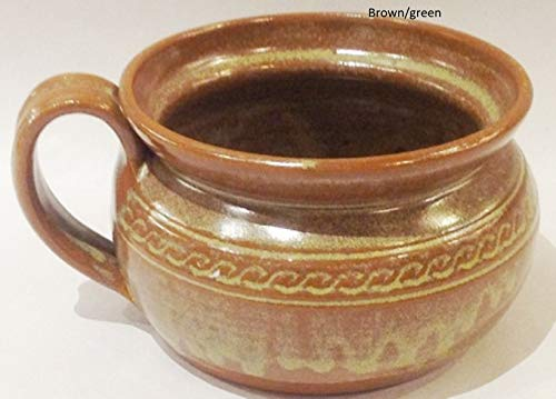 - Handmade Pottery bowl for soup, chili, french onion bowl with handle