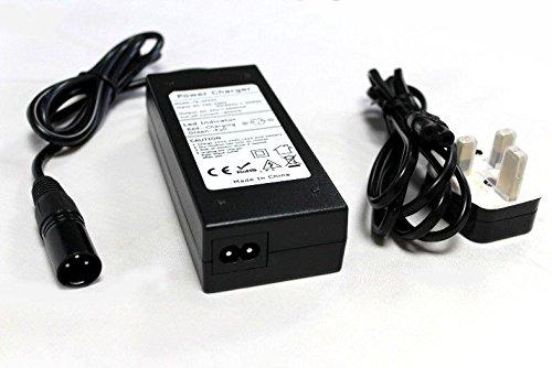 24V 2A Scooter pour fauteuil roulant batterie XLR chargeur d'alimentation électrique/bloc d'alimentation/adaptateur avec prise anglaise–Entièrement automatique chargeur–3étapes Cycle de charge–Connectez et oubliez–équipé d'une prise XLR 3broche