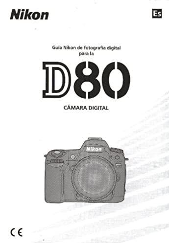 nikon d80 digital camera original instruction manual spanish text rh amazon com manual camara nikon d80 español manual nikon d80 español pdf