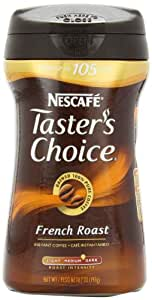 Nescafe Taster's Choice French Roast Instant Coffee, 7-Ounce  Canisters (Pack of 3)