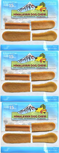 Hdc 4 Piece (FRESH HIMALAYAN DOG CHEW SMALL (3 - 4 PIECES) HEALTHY NATURAL LONG LASTING TREAT (3 Pack))