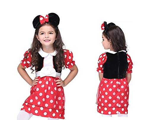 Girl's Minnie Clubhouse Halloween Costume 2 Piece Set -