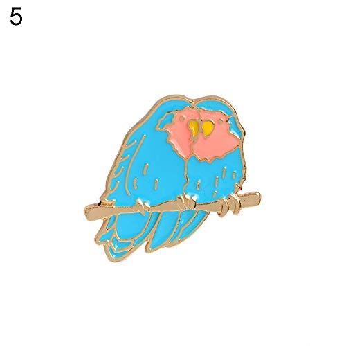 ZBmiluddeer Cartoon Animal Enamel Lapel Pins Cute Plant Brooches Lapel Pin Badges Clothing Bags Backpacks Jackets Hat Decor