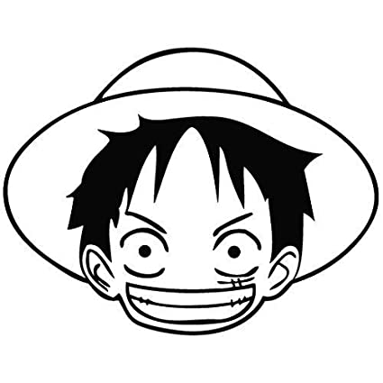 38631c289e8 Amazon Com One Piece Anime Luffy Head Vinyl Stickers Symbol 5 5