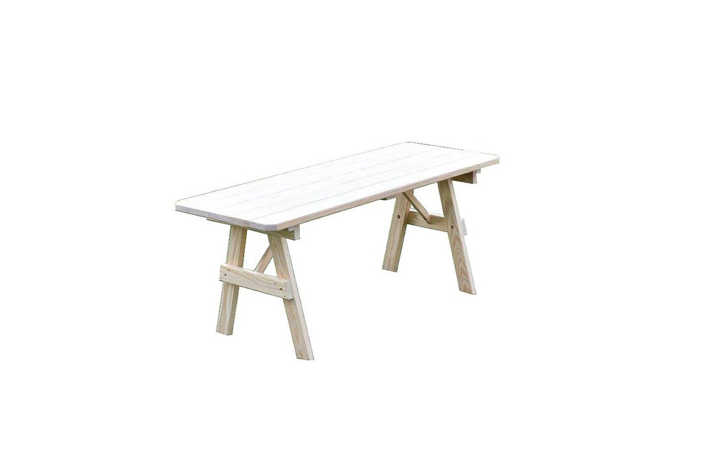 Furniture Barn USA Pressure Treated Pine 6 Foot Picnic Table ONLY -Mushroom Stain