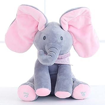 Amazon Com Stuffed Plush Animals Peek A Boo Elephant Stuffed
