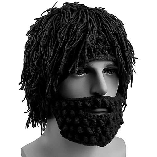 New Knitted Men Winter Crochet Mustache Hat Beard Beanies Face Tassel Bicycle Mask Ski Warm Cap Funny Hat