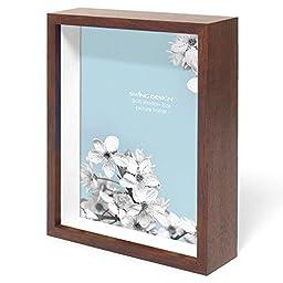 Swing Design Chroma Shadow Box Frame, 8 by 10-Inch, Walnut