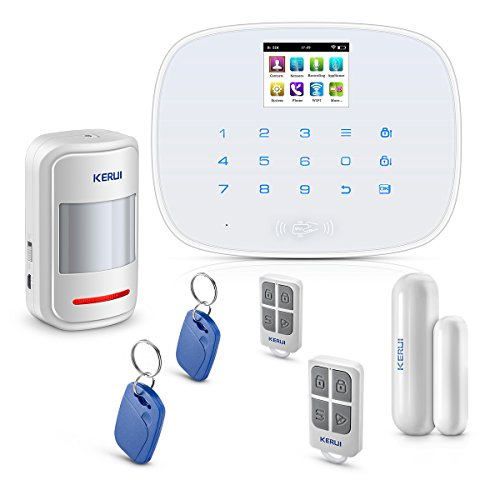 KERUI Wireless Home/House Business Security Alarm System,3G WiFi PSTN Auto Dial APP Remote Control Smart Burglar Alert DIY Kit,W193 Come with Door Contact Sensor and PIR Motion Sensor