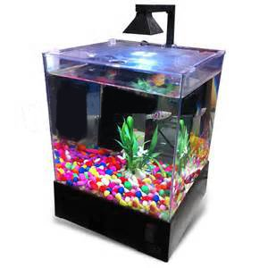 PERFECT New Fish Tank Aquarium Home Or Office Aqua Box With LED Lighting  1.5 Gallons