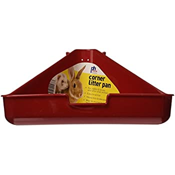 Prevue Pet Products SPV488 Rabbit and Ferret Corner Litter Pan, Colors Vary