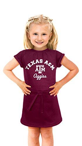 Cheekie Peach NCAA Texas A&M Aggies Girls Cold Night Dress, 5T, (Aggie Girl)