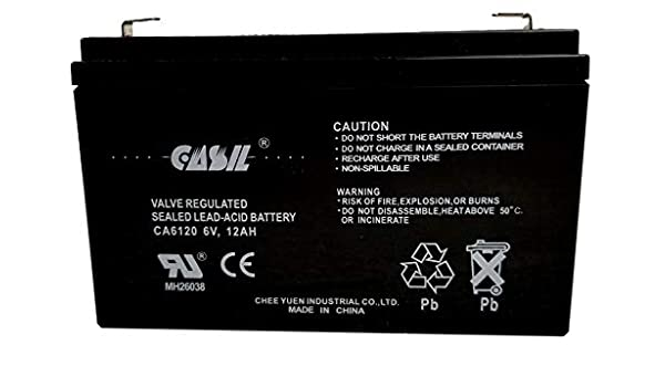 Casil CA6120 6V 12Ah F1 Battery Replacement