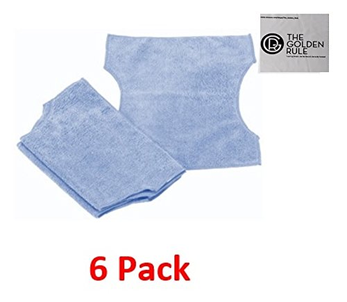 UPC 745313403642, 6 Pack Reusable Microfiber Swiffer Refills for Swiffer + Mop, Swiffer Sweeper 2 in 1 Mop Broom & Synonymous Clean/Glasses Cloth
