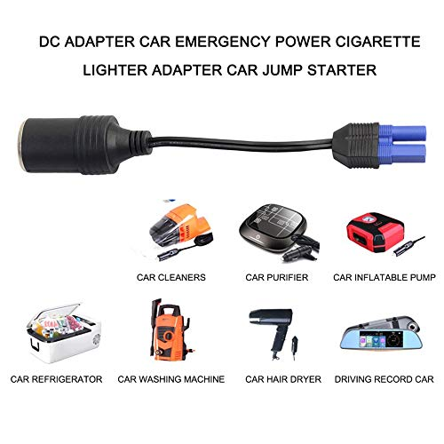 Adattatore CC Avviamento di emergenza per auto Cavo adattatore di alimentazione EC5 Picture Seat Accendisigari Adattatore per auto Jump Starter-black /& blue