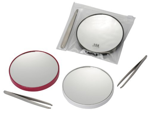 Magnifying Mirror X 15 with tweezers and carry pouch BeautyCentre 792/9 5035637711376