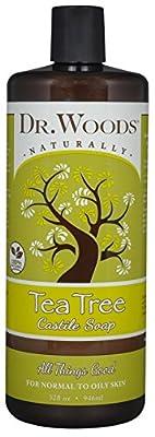 Dr. Woods Pure Tea Tree Castile Soap 16 Ounce