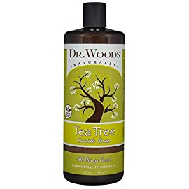 Dr. Woods Pure Tea Tree Liquid Castile Soap, 32 Ounce 19 Dr. Woods Tea Tree Castile Soap 32 oz. Soap