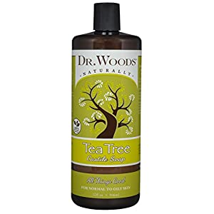 Dr. Woods Pure Tea Tree Liquid Castile Soap, 32 Ounce 6 Dr. Woods Tea Tree Castile Soap 32 oz. Soap