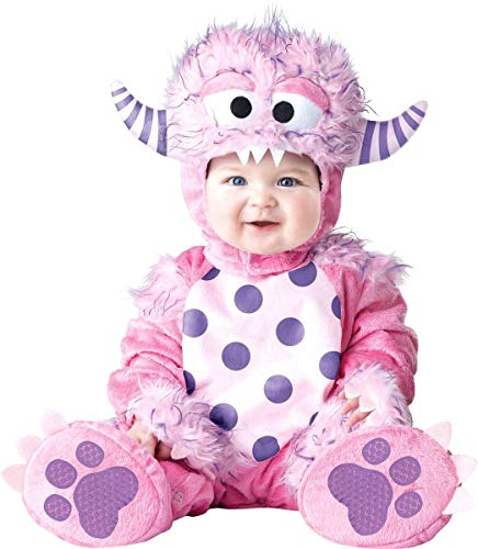 InCharacter Baby Girls' Lil' Monster Costume, Pink, Medium -