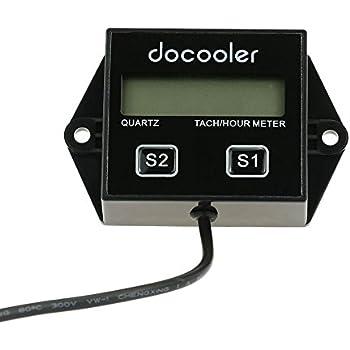 Amazon.com: iztoss visualización LCD tacómetro RPM Tacho ...
