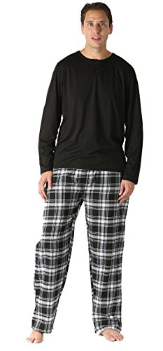 FollowMe Pajama Pants Set for Men / Sleepwear / PJs,Plaid 7,Medium