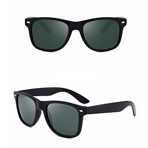 Color De Sol Sol para De Moda Sol Gafas Black Polarizadas Gafas Conducción Gafas Hombre Green de LBY Hombres De Pilotos Green Black wqBxII6Tp