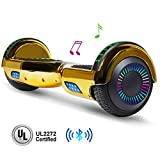 jolege Hoverboard with Bluetooth 6.5 inch Self Balancing Hoverboards for Kids with LED Flahing Lights-UL2272 Certified