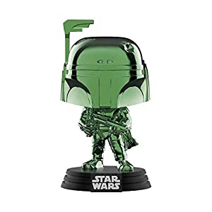Funko 41901 Pop Disney: Star Wars – Boba Fett (Green Chrome) Summer Convention, Amazon Exclusive, Multicolor