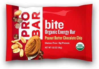 PROBAR – bite Organic Energy Bar – Peanut Butter Chocolate Chip – USDA Organic, Gluten-Free, Non-GMO Project Verified, Plant-Based Whole Food Ingredients, 4g Protein – Pack of 12