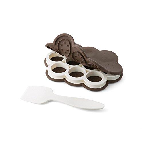 Chef'n 107-140-251 SweetSpot Mini Ice Cream Sandwich Maker (Fudge/Coconut), Standard,