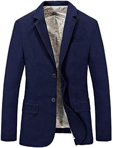 Jotebriyo Mens Casual Lapel Cotton 2 Button Blazer Solid Color Dress Blazer Jacket Suit Coat / Jotebriyo Mens Casual Lapel Cotton 2 Button Blazer Solid Color Dress Blazer Jacket Suit Coat