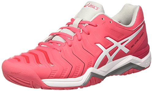 Chaussures Grey Femme Asics Red rouge glacier Tennis 11 Gel De Multicolore white challenger 7wqpw
