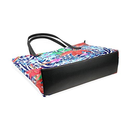 e Tote modello muticolour Bag per medio Blu COOSUN Cuoio a rossi zebra donne borsa borse e della tracolla fiori Borsa le qpEw6xAC