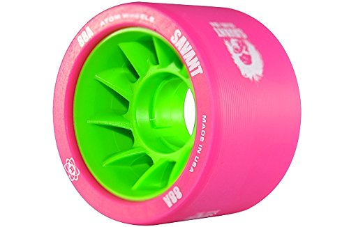 Atom Savant Skate Wheels Pink 88A Set of 8