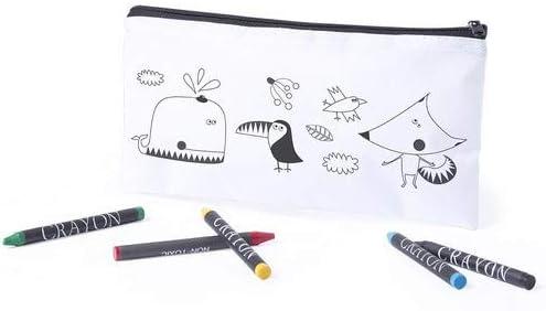 DISOK Lote 30 Estuches para Colorear con 5 Ceras Incluidas - Originales Estuches para Pintar niños. Estuches economicos para niños