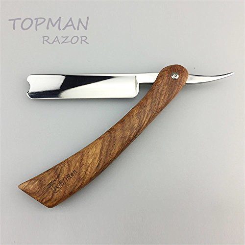 Handmade Straight Razor Retro Shaving Razor Stainless Steel Wood Handle Barber Razor Collector's Edition Gift for Men folding knife
