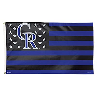 WinCraft MLB Colorado Rockies Stars and Stripes Deluxe Flag, 3 x 5', Multicolor