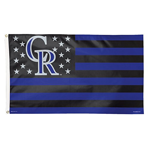(Wincraft MLB Colorado Rockies Stars and Stripes Deluxe Flag, 3 x 5', Multicolor)