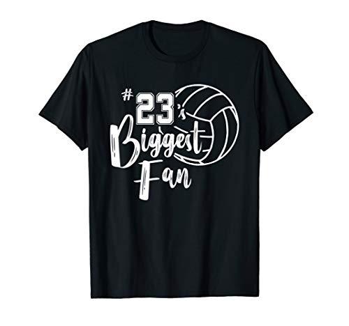 df0a053cfd08 Twenty-Three 23 s Biggest Fan Shirt Volleyball Mom Dad