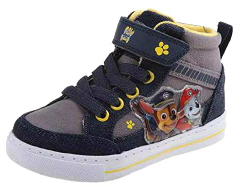 Patrol Shoes Sneaker - Paw Patrol Chase & Marshall Boys Hi Top Sneaker Shoes (9 M US Toddler)