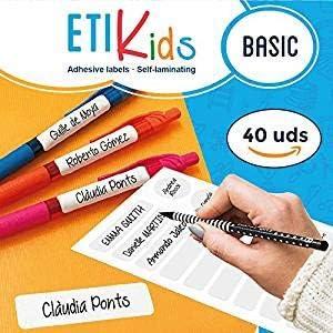 ETIKIDS 40 Etiquetas adhesivas laminadas personalizables multiusos ...