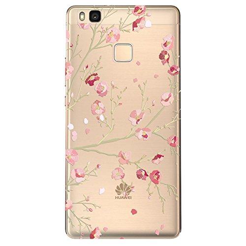 Funda Huawei P8 Lite 2016, WE LOVE CASE Transparent Rígida Diseño Hard Cáscara Bumper Dura Funda Huawei P8 Lite 2016 Caso Ultra Delgado Funda Cubierta de Protección Anti-Arañazos Funda Huawei P8 Lite  Henna Flower