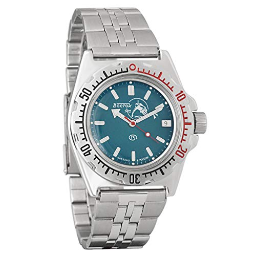 Vostok Amphibia Classic Russian Army Men's Watch WR 200m Mechanical Automatic Self-Winding Wrist Watch #110059